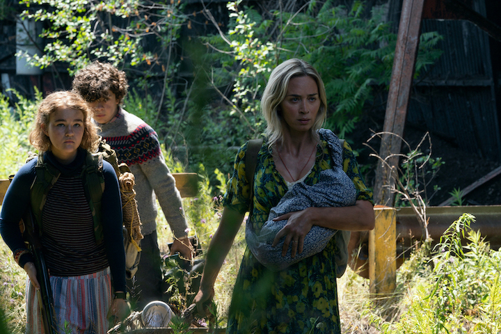 From left, Regan (Millicent Simmonds), Marcus (Noah Jupe) and Evelyn (Emily Blunt) brave the unknown in `A Quiet Place Part II.` (Photo by Jonny Cournoyer/©2019 Paramount Pictures. All Rights Reserved. Courtesy of EPK.TV)