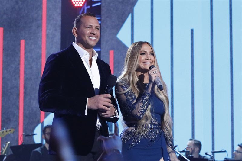 Alex Rodriguez and Jennifer Lopez. (NBC photo)