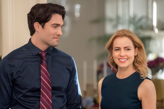 Amanda Schull and Peter Porte lead the Hallmark Channel's `Love, Once and Always.` The film debuts this weekend. (Crown Media photos)