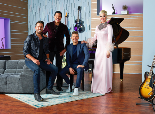 The whole will be back. ABC's `American Idol` host Ryan Seacrest with judges Lionel Richie, Katy Perry and Luke Bryan. (ABC photo by Craig Sjodin)
