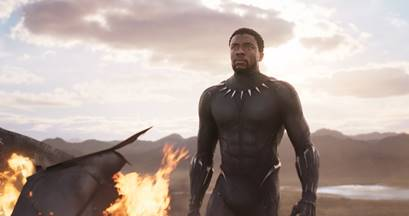 Chadwick Boseman as Black Panther (Image: Marvel Studios, courtesy of ABC News)