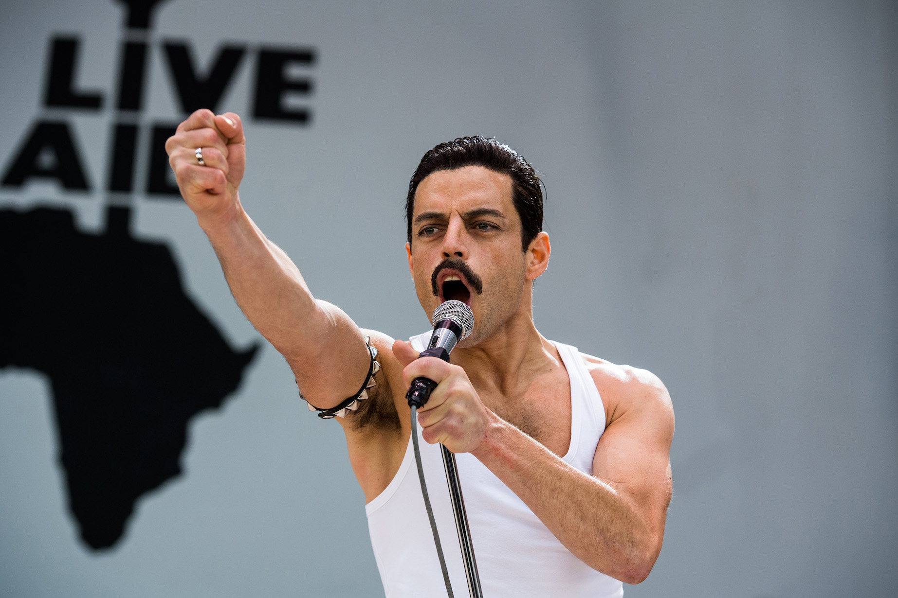 Rami Malek stars as Freddie Mercury in Twentieth Century Fox's Oscar-nominated `Bohemian Rhapsody.` (Photo credit: Alex Bailey. TM © 2018 Twentieth Century Fox Film Corporation)
