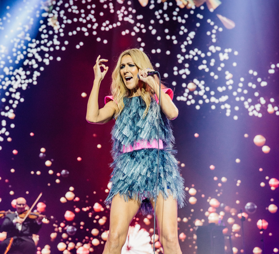 Celine Dion by Brian Purnell of Mushroom Creative House; image provided by KeyBank Center