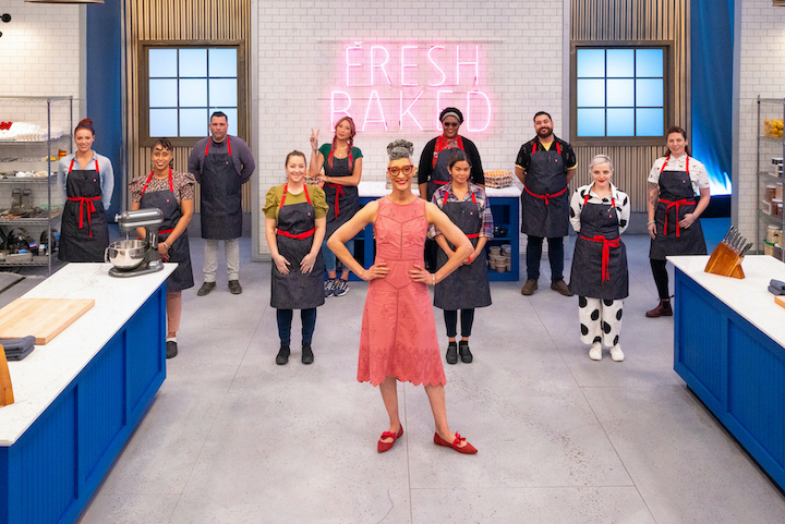 `Best Baker in America` host Carla Hall and contestants. (Photo courtesy of Food Network)