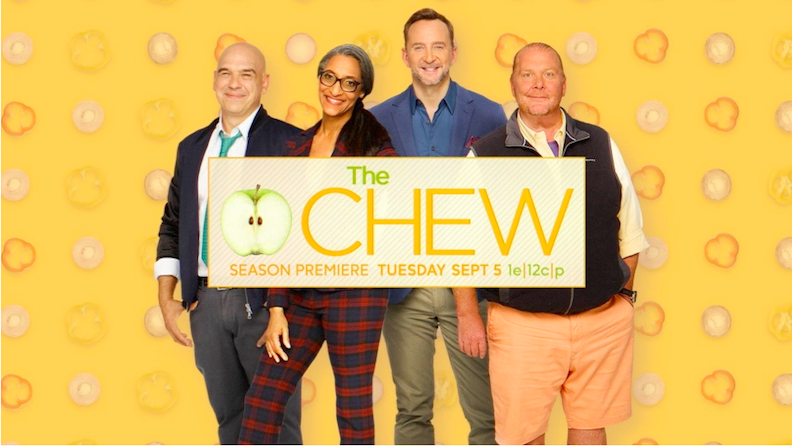 `The Chew` hosts Michael Symon, Carla Hall, Mario Batali and Clinton Kelly. (ABC photo)