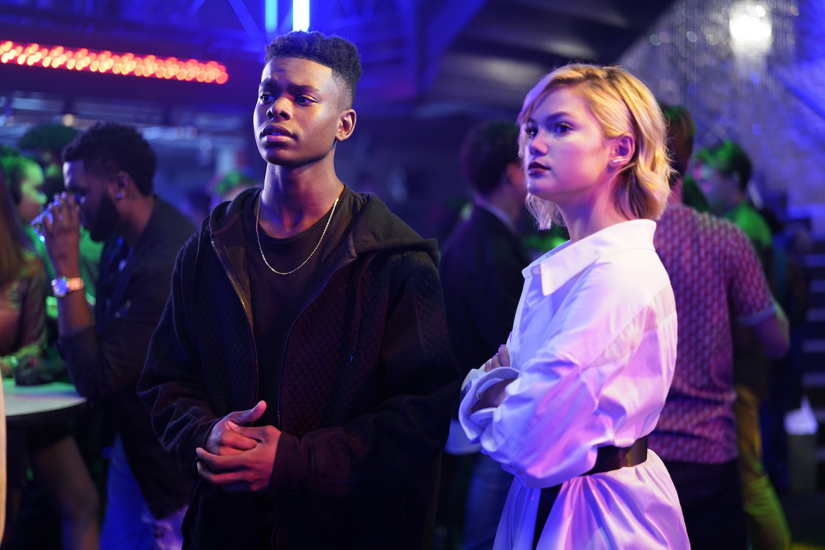 Tyrone (Aubrey Joseph) and Tandy (Olivia Holt) deal with the fallout from season one when `Marvel's Cloak & Dagger` returns on Freeform. (Photo by Alfonso Bresciani/Freeform).
