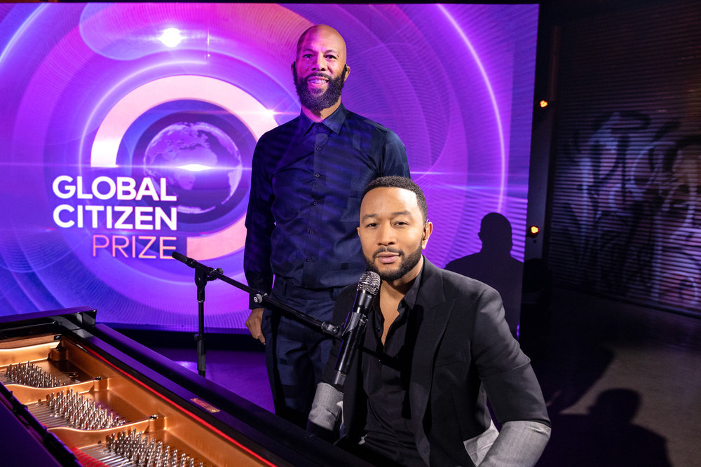 `Global Citizen Prize` Common and John Legend. (NBC photo by Christopher Polk)