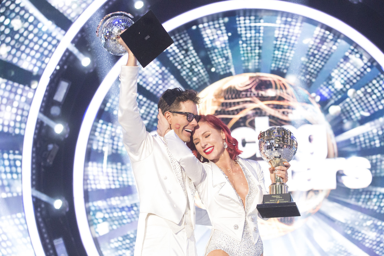 `Dancing with the Stars`: After weeks of competitive dancing, Bobby Bones and Sharna Burgess took home the Mirrorball Trophy on Monday. (ABC photo by Kelsey McNeal)