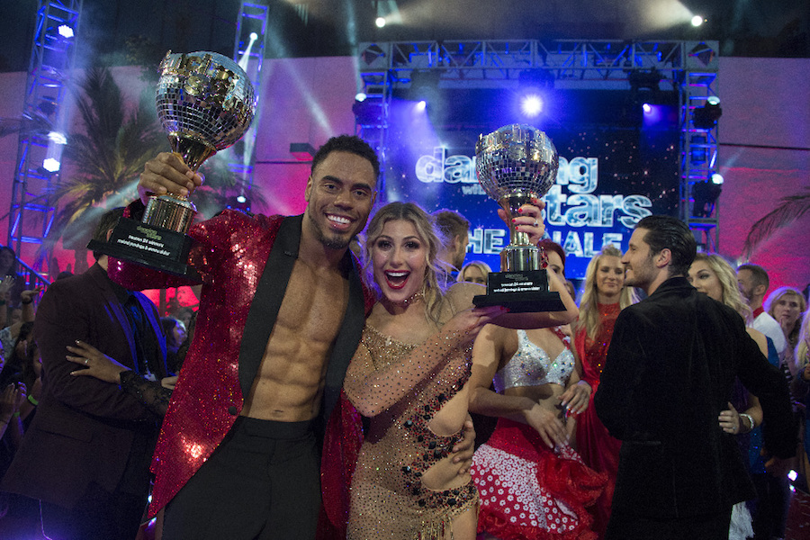 Rashad Jennings and Emma Slater, `Dancing with the Stars` champions. (ABC photo by Eric McCandless)