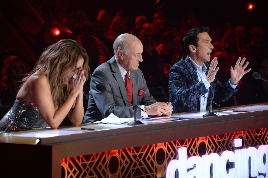 `Dancing with the Stars` judges Carrie Ann Inaba, Len Goodman and Bruno Tonioli. (ABC photo by Eric McCandless)