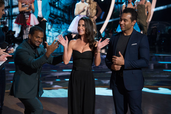 `Dancing with the Stars` welcomes back Alfonso Ribeiro, Kelly Monaco and Corbin Bleu on Monday. (ABC photo by Eric McCandless)