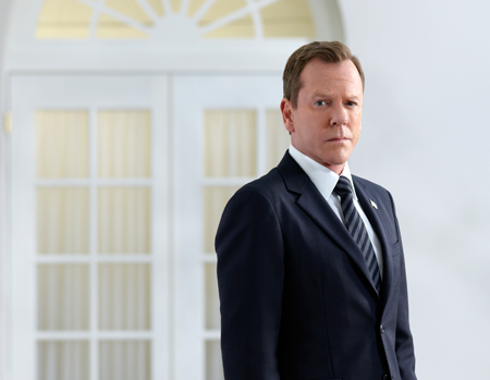 ABC's `Designated Survivor` and star Kiefer Sutherland (President Tom Kirkman) can also be found on Hulu. (ABC photo by Bob D'Amico)