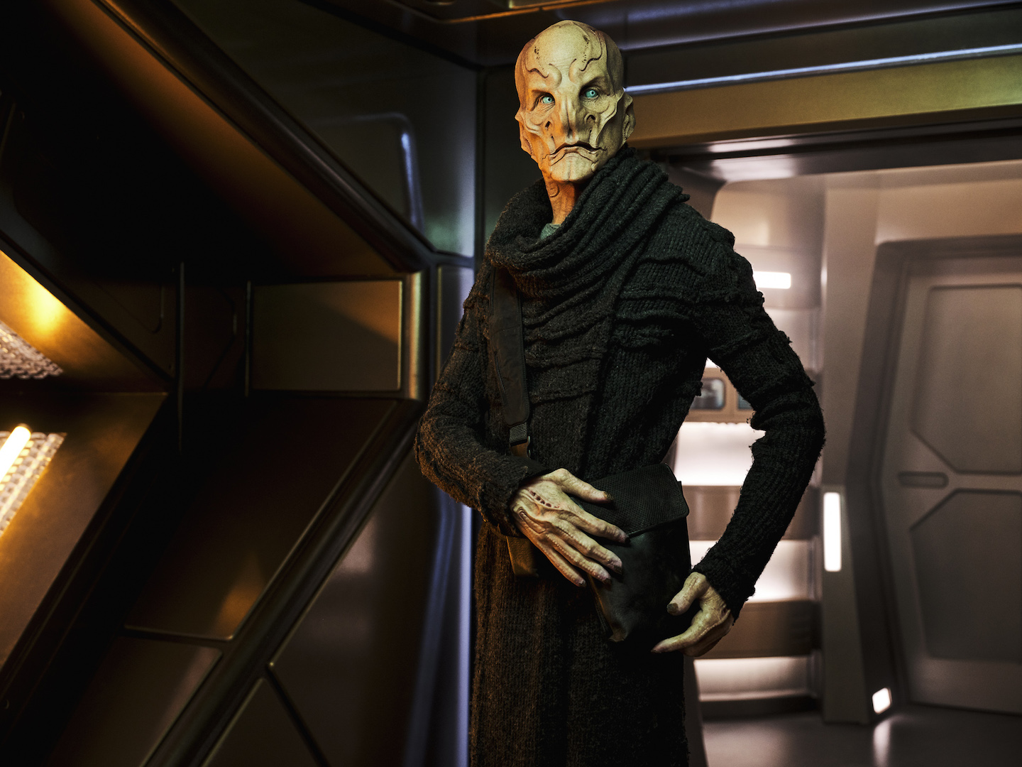 Doug Jones as `Saru` on the CBS All Access series `Star Trek: Discovery.` (Photo by James Dimmock/CBS © 2020 CBS Interactive. All rights reserved.)