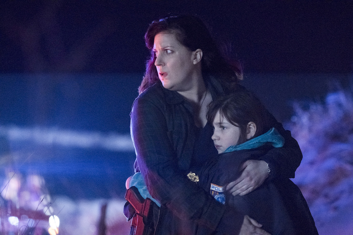 Allison Tolman and Alexa Swinton on `Emergence.` (ABC photo by Virginia Sherwood)