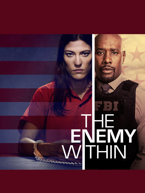 Erica Shepherd (Jennifer Carpenter) and Will Keaton (Morris Chestnut) on `The Enemy Within.` (NBC key art)