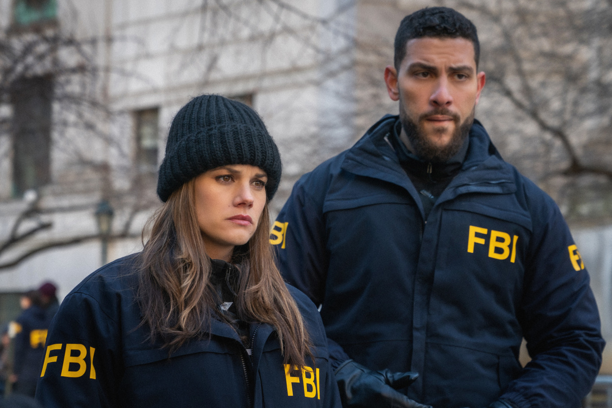 Pictured, from left, are `FBI` stars Missy Peregrym as Special Agent Maggie Bell and Zeeko Zaki as Special Agent Omar Adom `OA` Zidan (Photo by Michael Parmelee/CBS ©2020 CBS Broadcasting Inc. All rights reserved.)