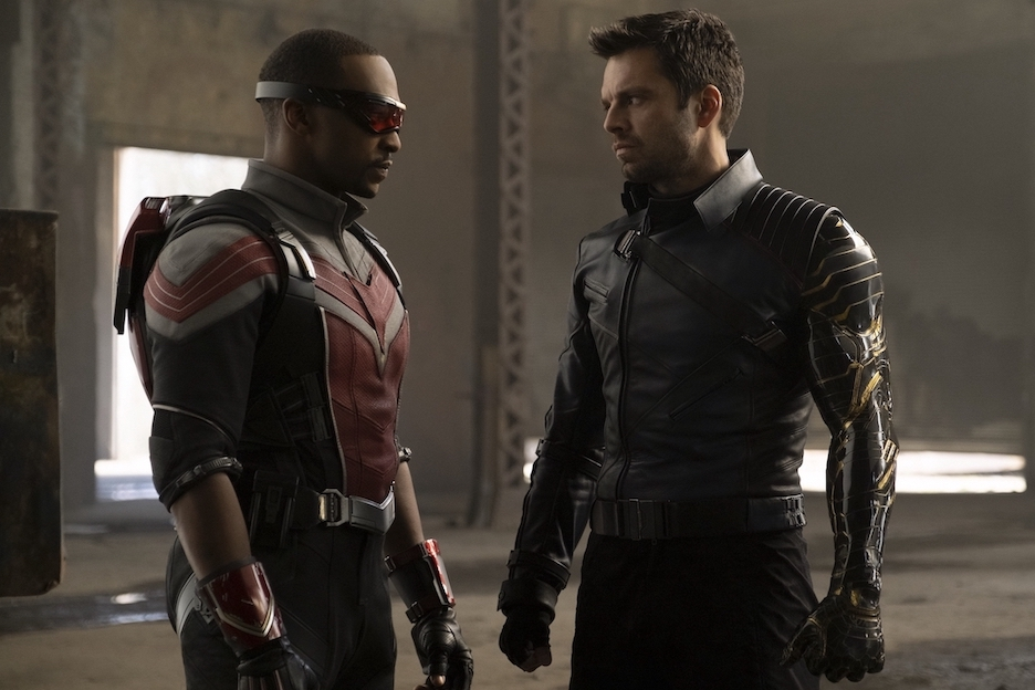 From left: Marvel Studios' `The Falcon and The Winter Soldier` stars Anthony Mackie as Sam Wilson (aka The Falcon) and Sebastian Stan as Bucky Barnes (aka The Winter Soldier) exclusively on Disney+. (Photo by Chuck Zlotnick/©Marvel Studios 2020/all rights reserved)
