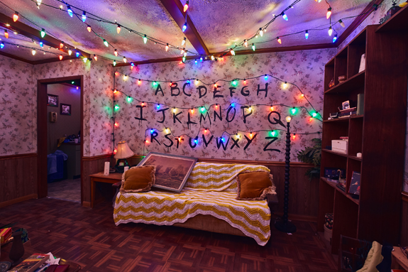 Images of the `Stranger Things` haunted mazes by Anastasia Lee, NBCUniversal.