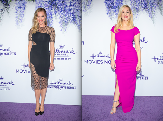 Rebecca Romijn and Kellie Pickler at the Crown Media TCA event last week. (Credits: © 2018 Crown Media United States, LLC | Photos: Kim Nunneley/Alexx Henry Studios, LLC)