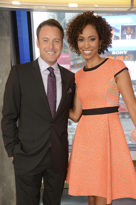 2018 Miss America Competition hosts Chris Harrison and Sage Steele. (ABC photo by Ida Mae Astute)