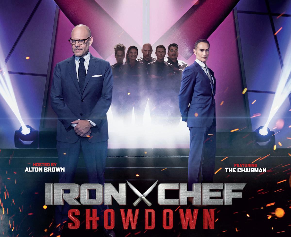 iron chefs return to legendary kitchen stadium for reimagined take