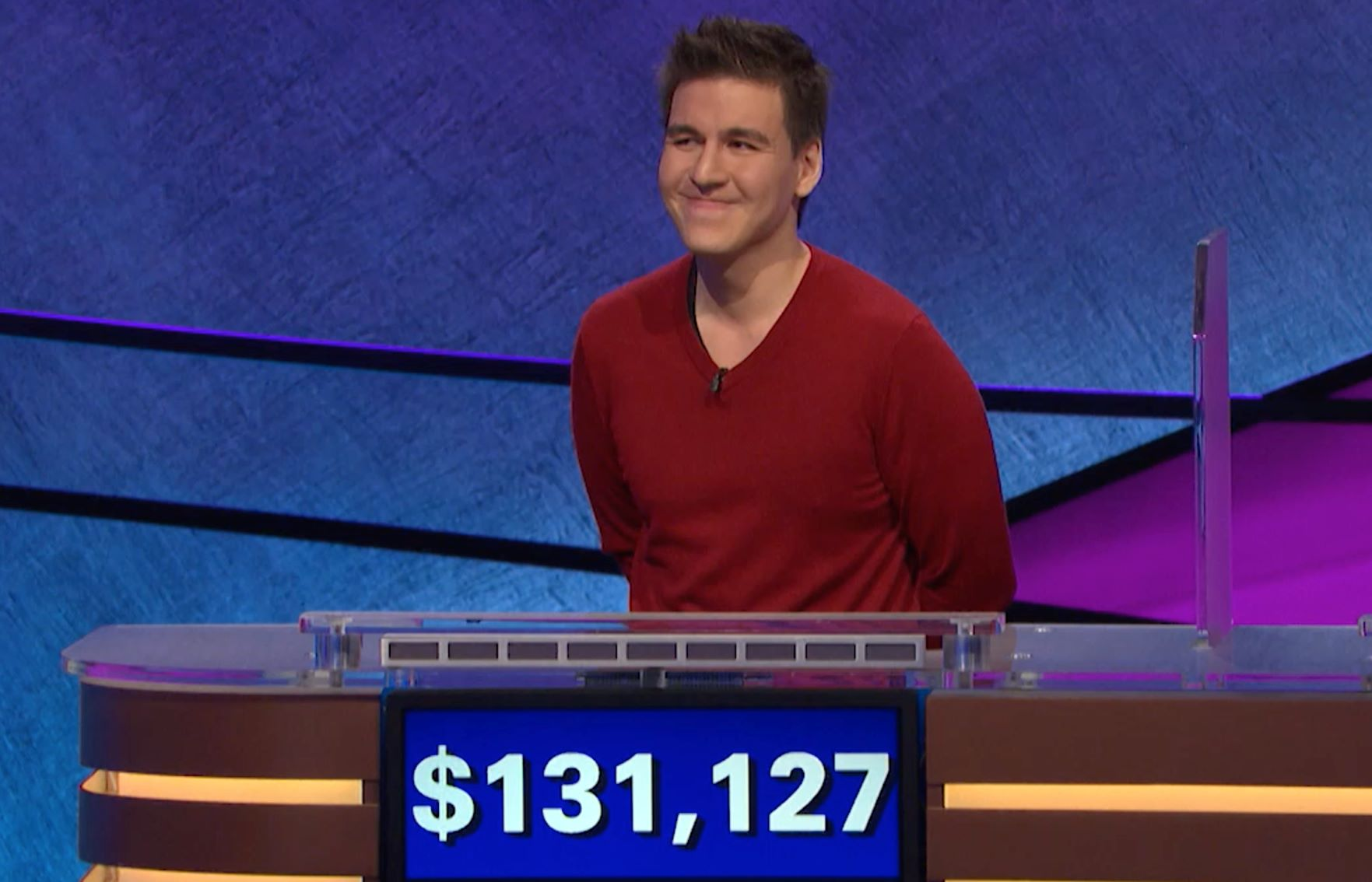 James Holzhauer on `Jeopardy!` (Image courtesy of Jeopardy Productions Inc.)
