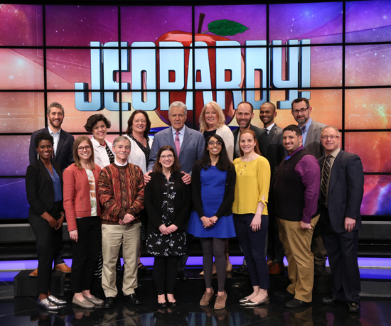 The `Jeopardy!` Teachers Tournament contestants. (Photo courtesy of Jeopardy Productions Inc.)