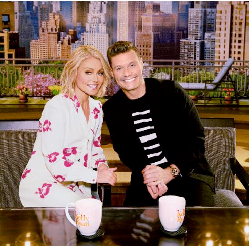 'Live with Kelly and Ryan` hosts Kelly Ripa and Ryan Seacrest. (Photo credit: Disney|ABC Home Entertainment and TV Distribution)