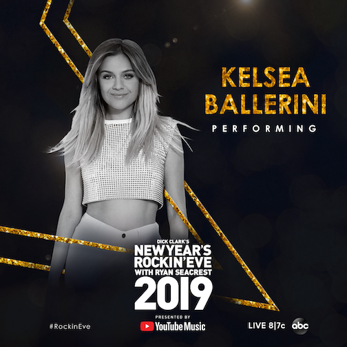 Kelsea Ballerini is performing this year at `Dick Clark's New Year's Rockin' Eve with Ryan Seacrest 2019.` (ABC/dick clark productions image)