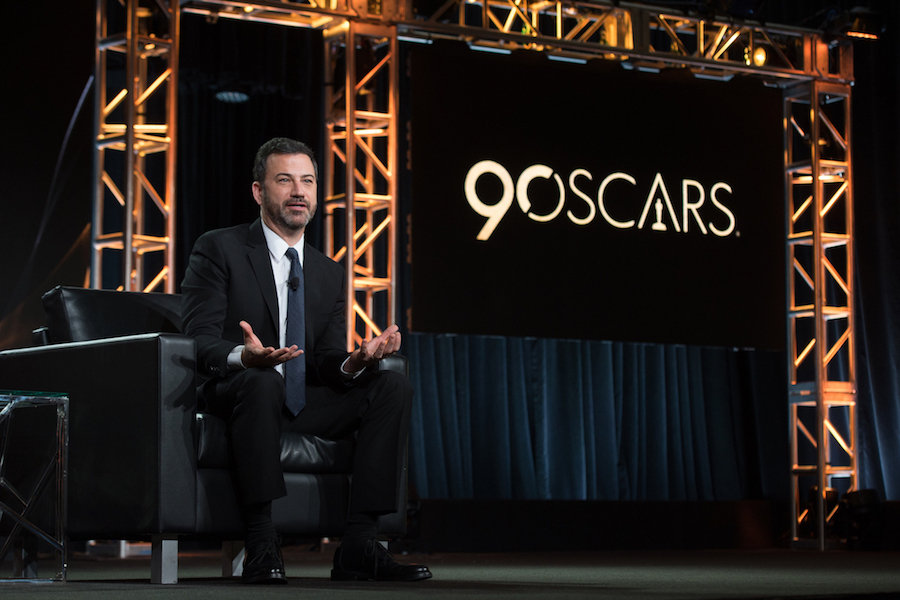 `Jimmy Kimmel Live!` and 90th Oscars host Jimmy Kimmel at the Disney | ABC Television Group's Winter Press Tour 2018. (ABC photo Image Group LA)