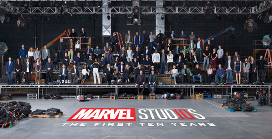 On Oct. 7, 2017, a group of more than 80 actors and filmmakers came together in secret in Atlanta on the set of Marvel Studios' `Avengers: Infinity War` to memorialize the past 10 years with a photo and to celebrate the accomplishments of the Marvel Cinematic Universe. (Photo ©2018 Walt Disney Studio/Marvel Studios. All Right Reserved. Submitted by EPK.TV.)