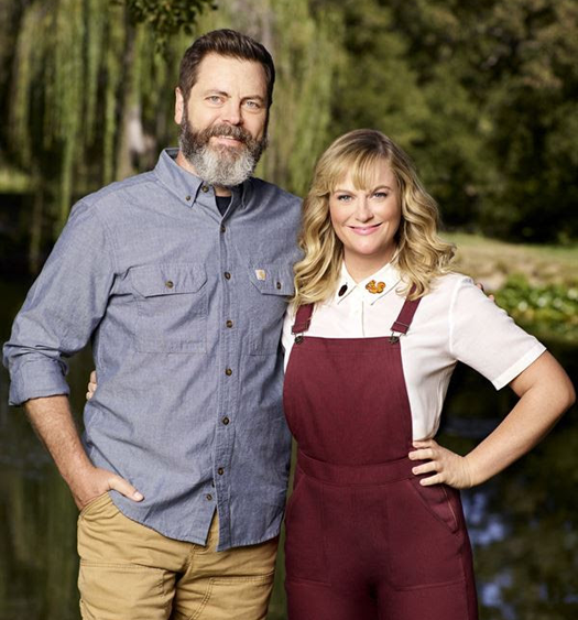 `Making It` hosts Amy Poehler and Nick Offerman will return for a second season. (NBC photo)