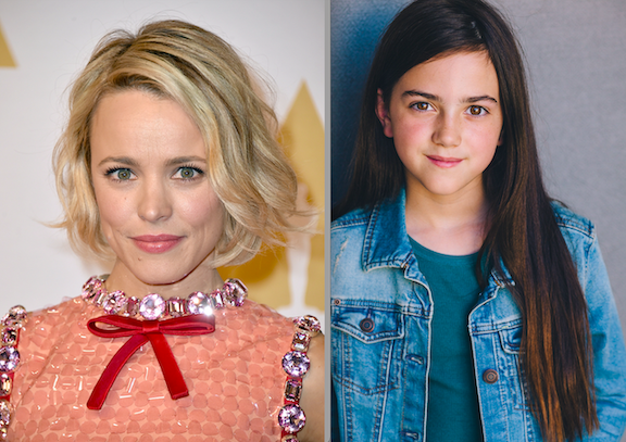 Rachel McAdams (Photo credit: Associated Press/provided by Lionsgate) and Abby Ryder Fortson (Photo credit: Rob Mainord Photography/provided by Lionsgate) star in Lionsgate's adaptation of Judy Blume's classic novel `Are You There God? It's Me, Margaret.`