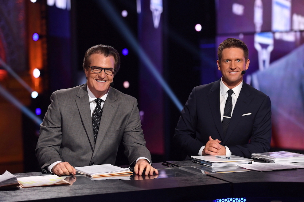ESPN NFL Draft experts Mel Kiper Jr. and Todd McShay (Photo credit: Joe Faraoni/ESPN Images)