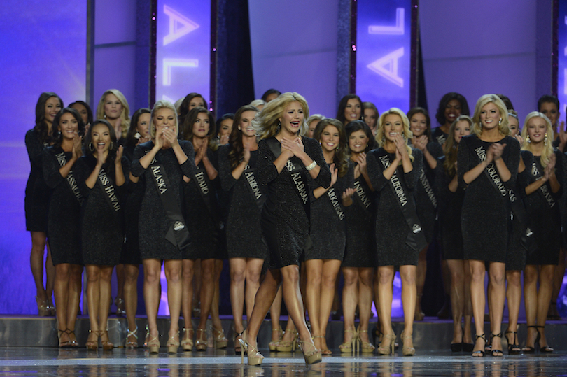 Pictured are 2016 Miss America Competition contestants. (ABC photo by Ida Mae Astute)