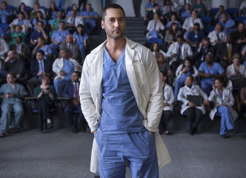 `New Amsterdam`: Season pilot. Pictured is Ryan Eggold as Dr. Max Goodwin. (NBC photo by Francisco Roman)