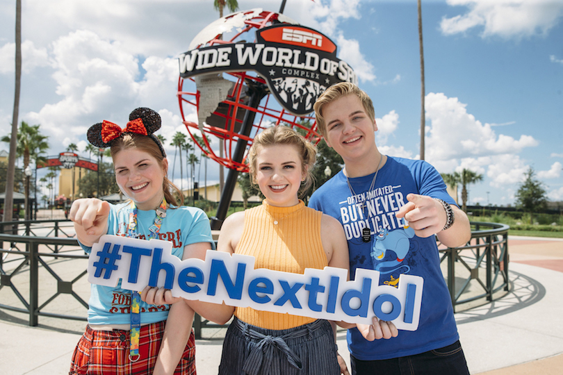 Pictured at the `American Idol` audition are, from left: Catie Turner, Maddie Poppe and Caleb Lee Hutchinson. (ABC photo by Steven Diaz)