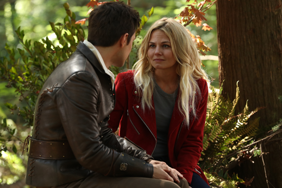`A Pirate's Life` - When Henry finds himself in trouble, he calls upon his Storybrooke family for help, and together they set off on a mission to find Cinderella. `Once Upon a Time` airs at 8 p.m. tonight on The ABC Television Network. Pictured are Andrew J. West and Jennifer Morrison. (ABC photo by Jack Rowand)