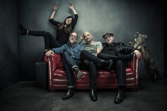 Pixies, from left: Paz Lenchantin, David Lovering, Joey Santiago and Black Francis. (Photo credit: Travis Shinn)
