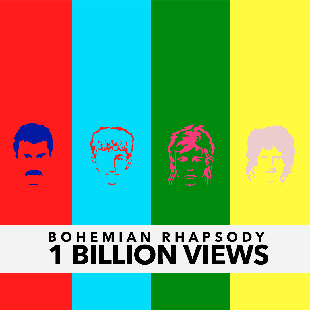 Queen's `Bohemian Rhapsody` is at 1 billion YouTube views ... and counting. (Image courtesy of Universal Music Group)