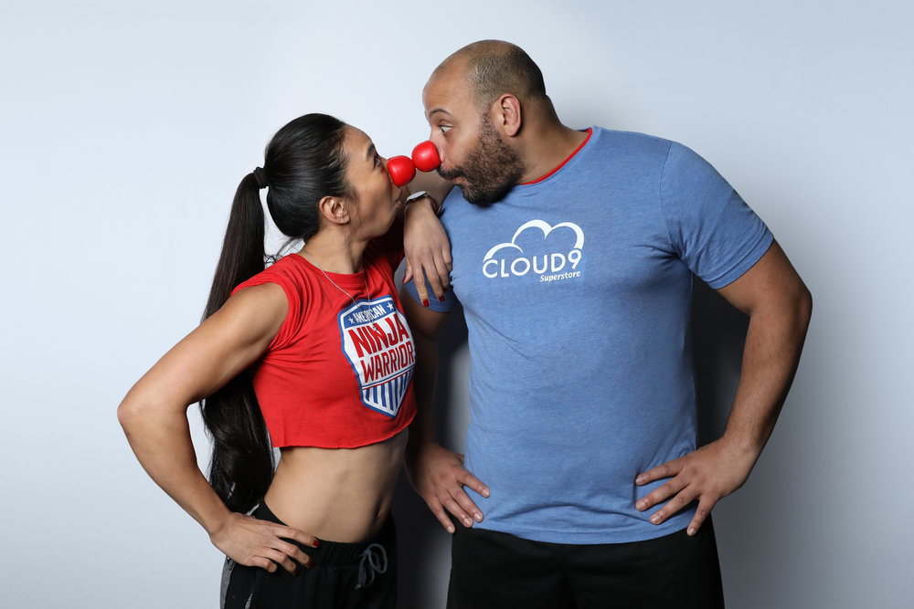 `Red Nose Day Special` featuring `American Ninja Warrior`: Pictured are Natalie Duran and Colton Dunn. (NBC photo by Tyler Golden)