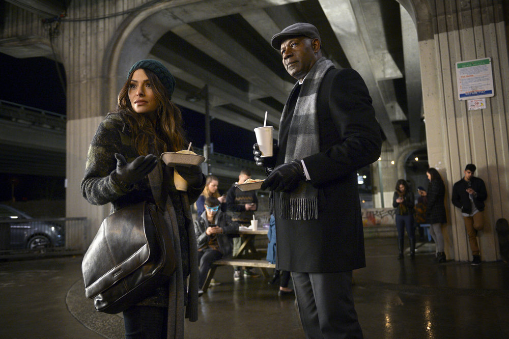 `Reverie`: Pictured, from left, are Sarah Shahi as Mara Kint and Dennis Haysbert as Charlie Ventana. (NBC photo by Sergei Bachlakov)