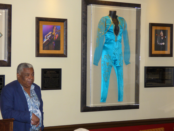 LeRoi Johnson talks about his brother, the late Rick James. The Buffalo Music Hall of Fame debuted a new James jumpsuit inside its room at the Hard Rock Cafe, Niagara Falls USA.