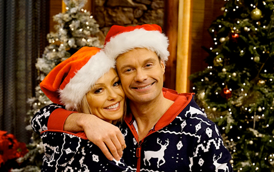 Kelly Ripa and Ryan Seacrest. (Photo credit: David M. Russell/Disney|ABC Home Entertainment and TV Distribution)