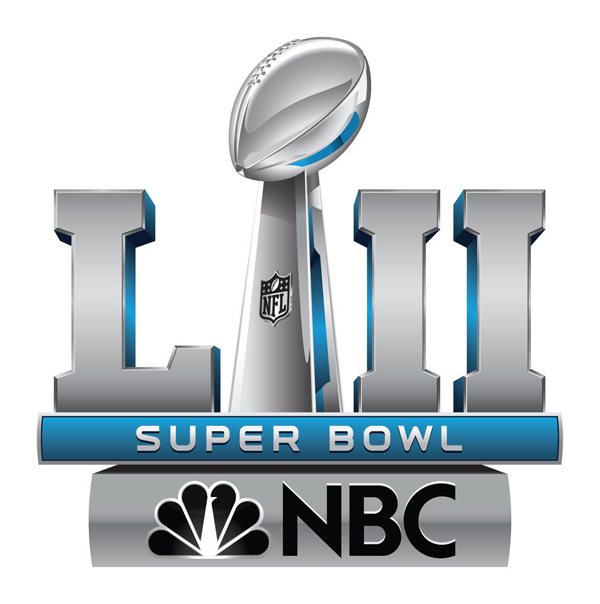 Super Bowl LII on NBC. (Logo property of NBCUniversal)