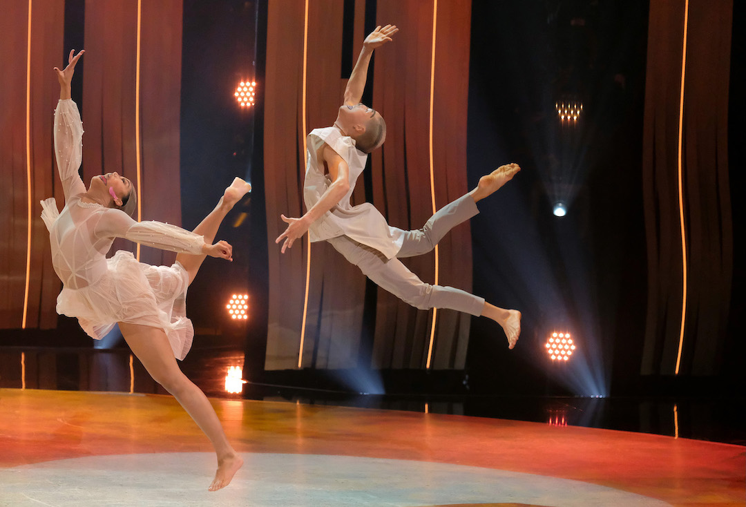 `So You Think You Can Dance` top 4 contestant Genessy Castillo, left, and all-star Lex Ishimoto perform a contemporary routine to `Be Brave` choreographed by Mandy Korpinen & Elizabeth Petrin on the season finale episode on FOX. (Photo ©2018 FOX Broadcasting Co./credit: Adam Rose)
