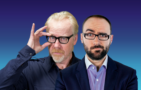 `Brain Candy Live!` hosts Adam Savage, left, and Michael Stevens. (Submitted photo/courtesy of MagicSpace Entertainment)