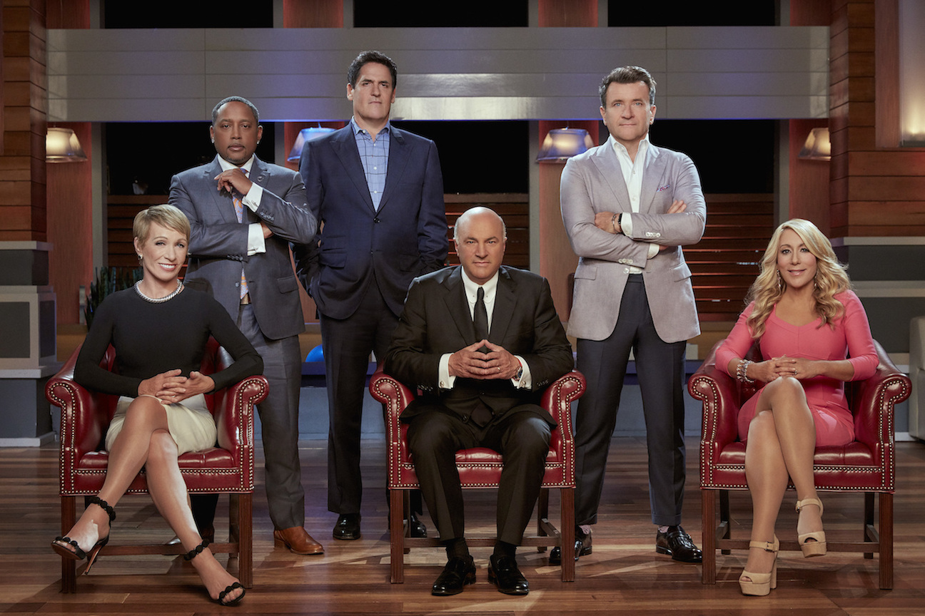 `Shark Tank`: Barbara Corcoran, Daymond John, Mark Cuban, Kevin O'Leary, Robert Herjavec and Lori Greiner are the `Sharks` on ABC's `Shark Tank.` (ABC photo by Patrick Ecclesine)