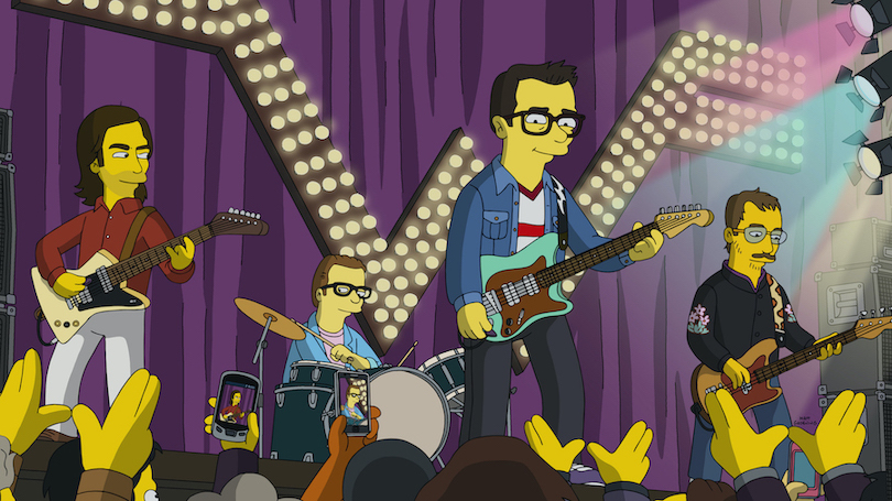 Guest voice Weezer on `The Simpsons.` (Image ©2020 by Twentieth Century Fox Film Corporation)
