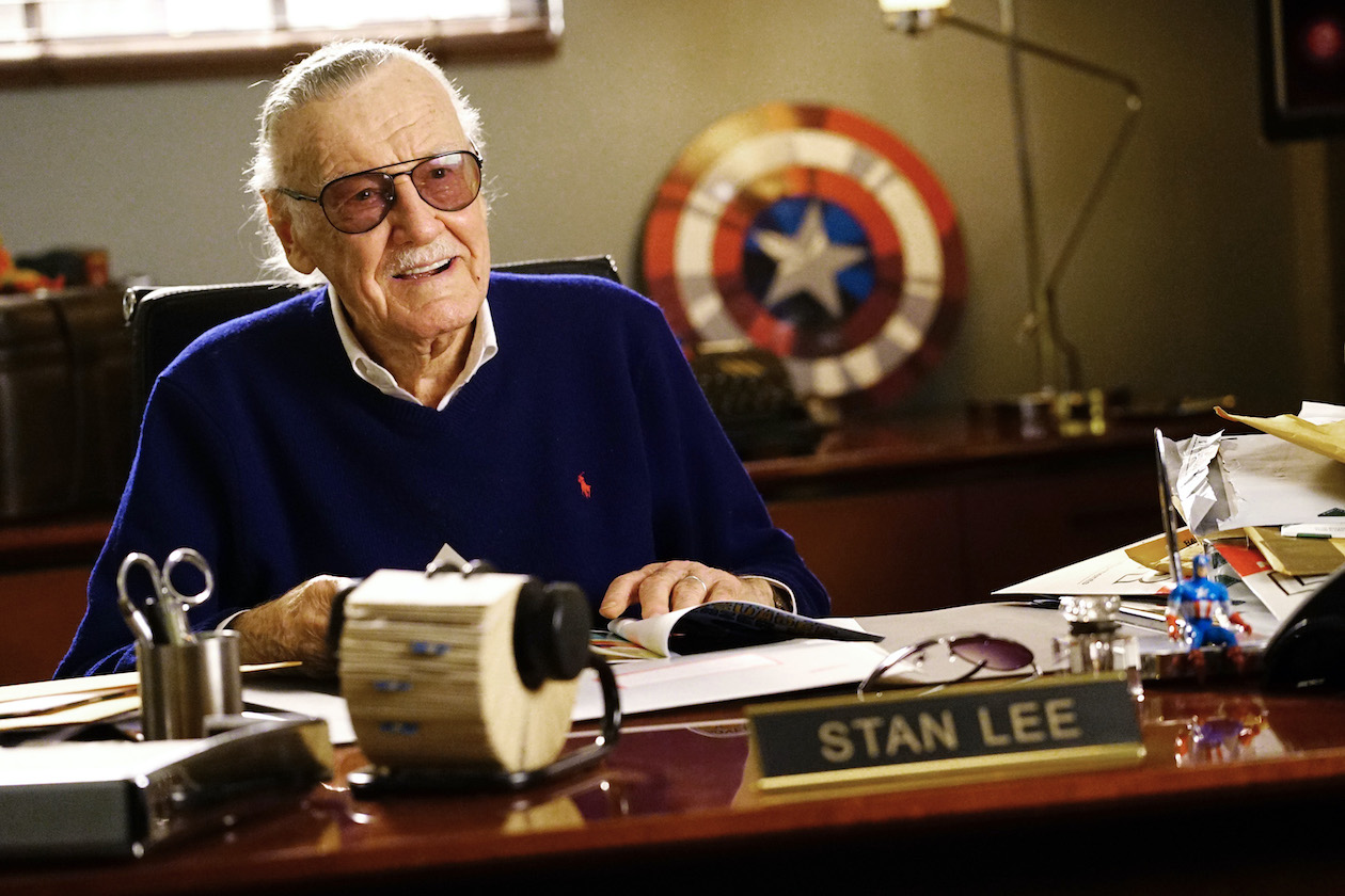 Stan Lee appeared on an episode of ABC's `Fresh Off the Boat` in 2017. His life and legacy will be celebrated in a new special. (ABC photo by Richard Cartwright)